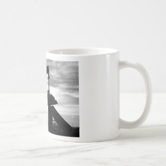 Oil Well Pump Jack Black and White Coffee Mugs