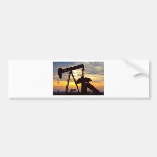 Oil Well Pump Jack Sunrise Bumper Sticker