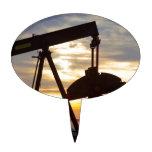 Oil Well Pump Jack Sunrise Cake Topper