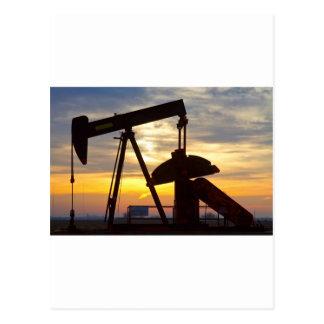Oil Well Pump Jack Sunrise Post Card