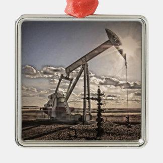 Oil Well Pump Metal Ornament
