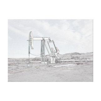 Oil Well Pumping (pumpjack) Unit Canvas Print