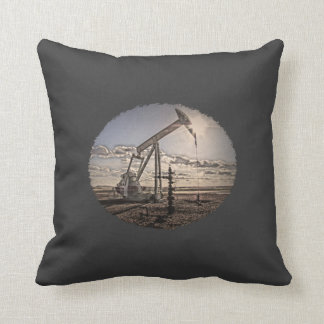 Oil Well Pumping Unit Custom Color Pillow