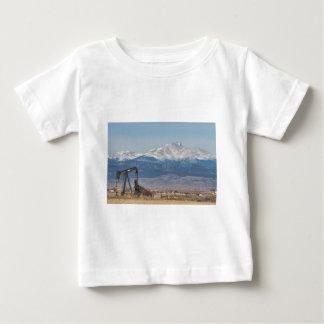 Oil Well Pumpjack And Snow Dusted Longs Peak Shirt