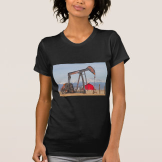 Oil Well Pumpjack Red Barn And Longs Peak T Shirts
