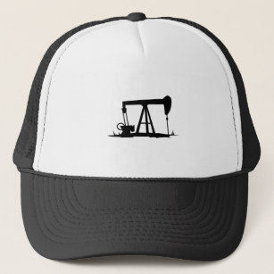 OIL WELL SILHOUETTE TRUCKER HAT