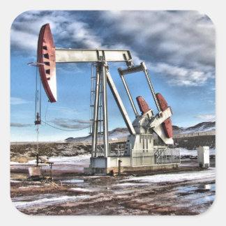 Oil Well Square Sticker