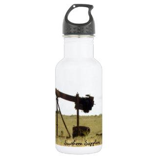 Oil well stainless steel water bottle