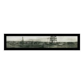 Oil Workers Kern River Photo 1910 Poster