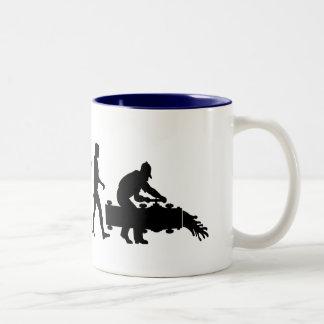 Oil workers landman pipeline engineering gifts Two-Tone coffee mug