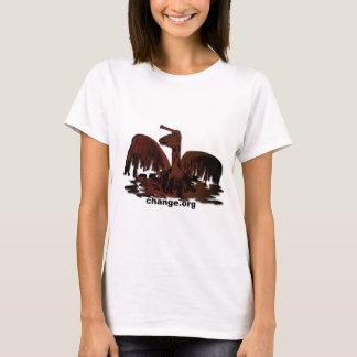 oiled brown pelican-2 T-Shirt