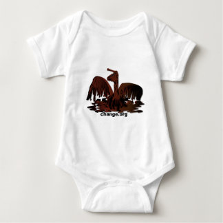 oiled brown pelican baby bodysuit