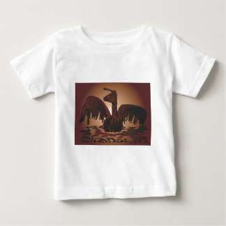 oiled brown pelican- baby T-Shirt