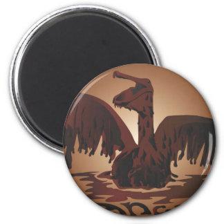 oiled brown pelican- magnet
