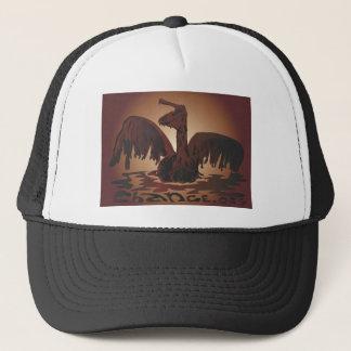 oiled brown pelican- trucker hat