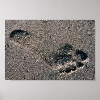 Oiled Foot Print