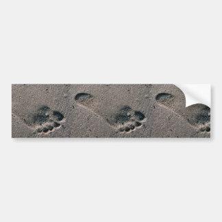 Oiled Foot Print Bumper Sticker