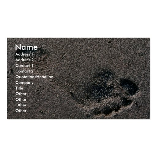 Oiled Foot Print Business Card Templates