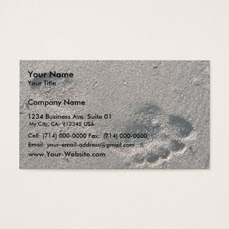 Oiled Foot Print Business Card