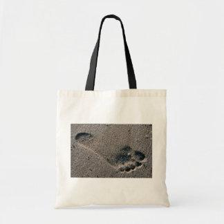 Oiled Foot Print Tote Bag