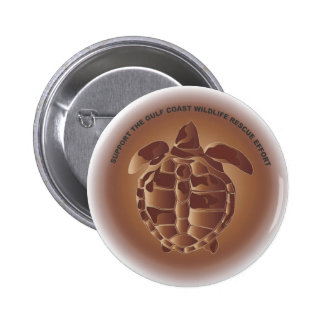 Oiled Kemp's Ridley Sea Turtle Buttons