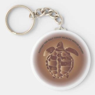 Oiled Kemp's Ridley Sea Turtle Keychain