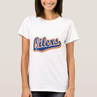 Oilers in Blue and Orange T-Shirt