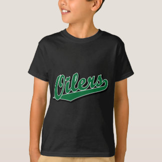Oilers in Green T-Shirt