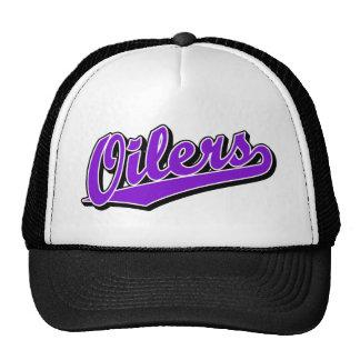 Oilers in Purple Trucker Hat