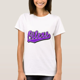 Oilers in Purple T-Shirt