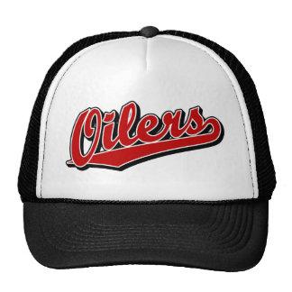 Oilers in Red Trucker Hat