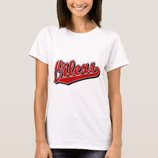 Oilers in Red T-Shirt