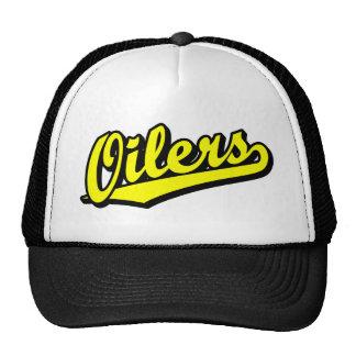 Oilers in Yellow Trucker Hat
