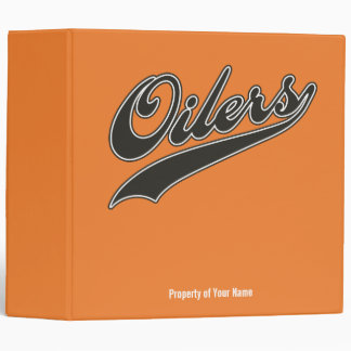 Oilers Script 3 Ring Binder