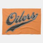Oilers Script Kitchen Towel