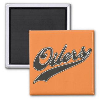 Oilers Script Magnet