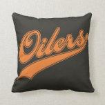 Oilers Script Throw Pillow