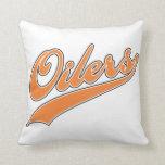 Oilers Script Throw Pillows