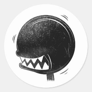 Oilers Shift Knob Head Classic Round Sticker
