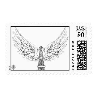Oilfield Angel Rig Stamp