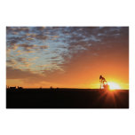 Oilfield At Sunset Poster