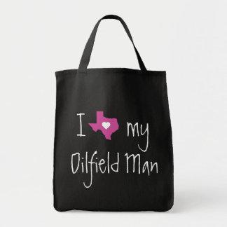 Oilfield Girlfriend or Wife Grocery Tote Bag