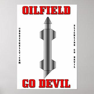 Oilfield Go Devil,Wireline Poster,Oil,Gas,