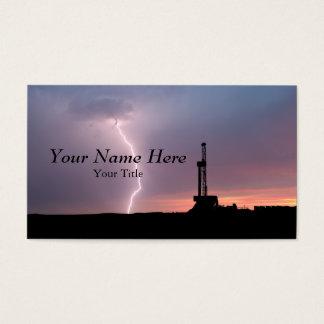 Oilfield Lightning Purple Sunrise Business Card