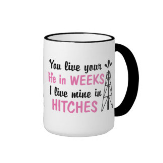Oilfield | Offshore Hitches Girlfriend or Wife Ringer Mug
