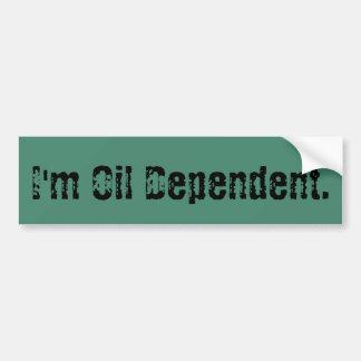 Oilfield Oil Dependent Bumper Sticker
