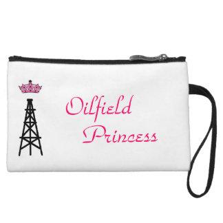 Oilfield princess clutch wristlet clutch