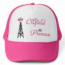 Oilfield Princess pink trucker hat