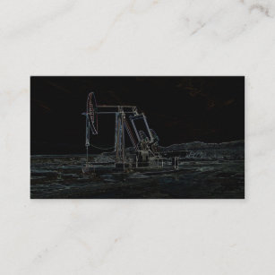 Oilfield business cards templates zazzle oilfield pumping unit in black business card reheart Image collections