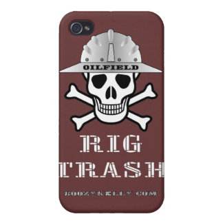 Oilfield Rig Trash,Skull & Cross Bones,Oil Rigs Cases For iPhone 4